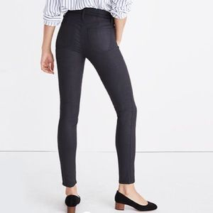 Madewell Coated High Rise Denim Jeans I'm Black